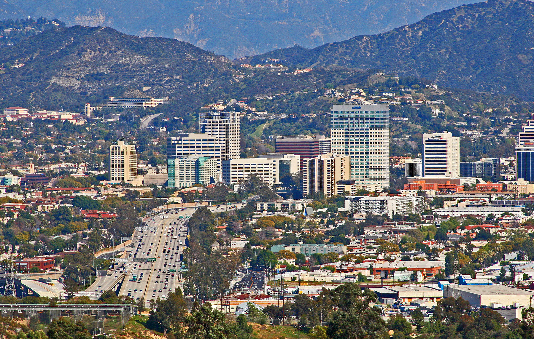 Downtown Glendale Freeway